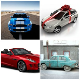 A collage of cars I will not be buying my children for the 16th birthday or graduation. (Sorry, kids!)